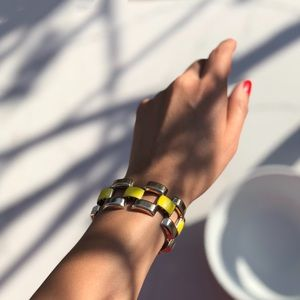 H&M Gold Link Yellow Bracelet